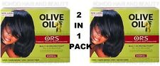 2 X Organic Roots Olive Oil Hair Relaxer Non Lye NORMAL RELAXER ( TWIN PACK )