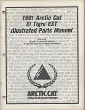 1991 ARCTIC CAT SNOWMOBILE  EL TIGRE EXT  p/n 2254-656  PARTS MANUAL (010)