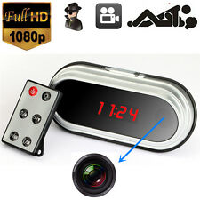 Full HD 1080P HDMI Hidden Spy Camera Alarm Clock DVR Motion Detection+ IR Remote