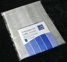 "NEW TRANSPARENT TABLECLOTH COVER CLEAR WIPE CLEAN 60"" x 90"" RECTANGLE 1120"