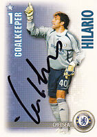 Chelsea F.C Hilario Hand Signed 06/07 Premiership Shoot Out Card