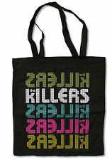 "THE KILLERS ""REPEAT LOGO"" BLACK TOTE BAG NEW OFFICIAL BAND"