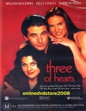 THREE of HEARTS (William BALDWIN) Sexy Romantic COMEDY DVD (NEW SEALED) Region 4