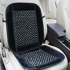 Zone Tech Black Wooden Beaded Seat Cover Massage Cool Premium Comfort Cushion