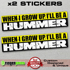 FUNNY 4x4 sticker decal offroad Hummer Wannabe