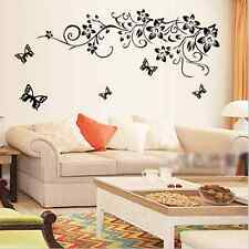 Flower vine+Butterfly Removable Wall Stickers Decal Home art Decor Deco Mural