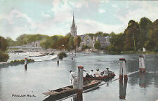 The Weir, Church & Bridge, MARLOW, Buckinghamshire