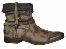 JOHN VARVATOS Mens Boots Hand Made Italy Brown Olive Size 9.5