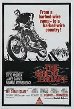 """THE GREAT ESCAPE Movie Poster [Licensed-New-USA] 27x40"""" Theater Size (McQueen)"""