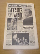 MELODY MAKER 1958 APRIL 5 EASTER PARADE PAT BOONE JUNE CHRISTY LOUIS ARMSTRONG +