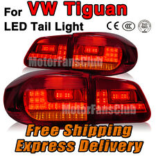New Red LED Rear Break Tail Lamp Light 4PCS Assy  For VW Tiguan 2009 2010 2011