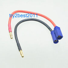 4mm Banana Bullet Plug to EC5 connector adapter charge cable lipo NiMh NiCd