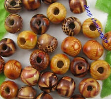 FREE SHIP! 100pcs Mixed Color Wood Round Charms Loose Beads 10MM SH265