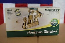 AMERICAN STANDARD WILLIAMSBURG 2904 POLISHED BRASS BATHROOM FAUCET W/ DRAIN