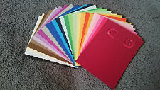 NEW Handmade Earring jewelry display card, 2x3 inch, 25 pcs, asst colors, edged