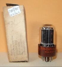 JAN CHY 5692 3 Mica Black Plates Vacuum Tube  2850/2900   Very Strong & Balanced