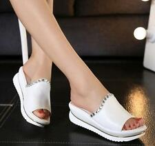new leather sandals and slippers women platform sandals wedges platform shoes