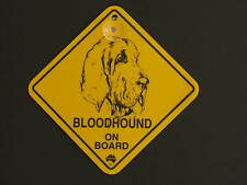 Bloodhound On Board Dog Breed Yellow Car Swing Sign Gift