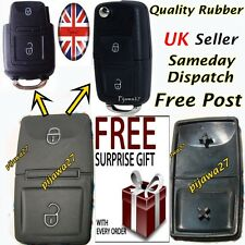 2 Button RUBBER PAD 4 Key Remote Fob 4 VW Passat Golf Polo T4 T5 Bora Sharan R32