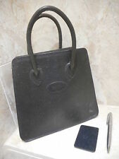 Mulberry Ostrich Leather Dark Green Handbag + Compact Mirror + Serial No