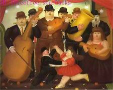 "Art Repro oil painting:""Fernando Botero Portrait at canvas"" 24x36 Inch #070"