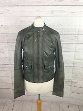 Womens Ted Baker Leather Bomber Jacket - Size 1 UK8 - Great Condition