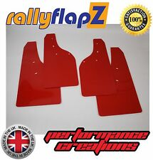rallyflapZ FORD FIESTA ST180 (2008+) Mudflaps Mud Flaps Qty4 Red - 4mm PVC