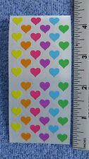"Sandylion HEARTS, MULTI COLOR MINI Strip of 2 Sqs of 1/4"" RETIRED Stickers"