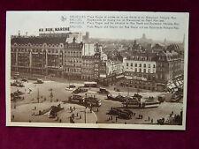 Carte Postale Belgique, Bruxelles, Place Rogier, Rue Neuve, 1937 nach Ostende