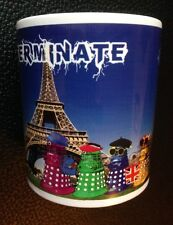 Dr Who Daleks as Tourists in Paris, France Mug