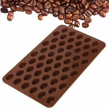55 Mini Coffee Beans Silicone Chocolate Sugar Candy Jelly Cookie Mold Cake Decor