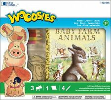 NEW Woodsies Childs Kit Baby Farm Animals Book Read Create Learn Series Age 3+