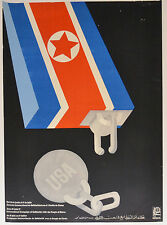 1978 Cuban authentic OSPAAAL Political Poster.Plakat.North KOREA.Cold War art