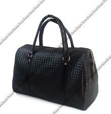 New Men Large PU Leather Duffle Gym Shoulder Travel Tote Luggage Holdall Bags