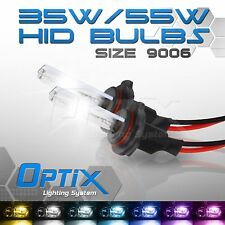 Optix 35W HID Xenon Bulbs Head Light Low 2x - 9006 HB4 / 8000k 8k Ice Blue (A)
