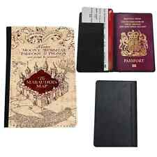 I marauders map Harry Potter NUOVO in Finta Pelle Custodia per Passaporto da Viaggio Custodia