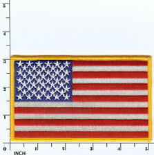 United States American FLAG larger 5 inch color jacket PATCH Stars & Stripes USA