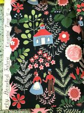 """Vintage Waverly Bonded Glosheen Fabric """" Courtin"""" Time """" Adorable!"""