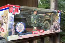 "GI Joe Classic Limited Edition 12"" Willys WWII Jeep w/ soldier & machine gun NIB"