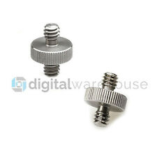 1/4 Male To 1/4 Male Threaded Metal Screw Adapter For Tripod Monopod *UK SELLER*