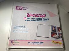 Scrapbooking 12x12 Hinged Pages White Plain Refill Pack Crafts