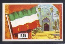DANDY GUM-FLAG PARADE 1965-#063- IRAN - QUALITY CARD!!!
