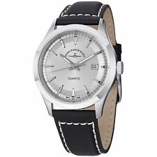 Zeno Mens 6662-515Q-G3 VintageLine Silver Dial Black Leather Strap Watch