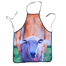 Cute Sheep Novelty Sexy Naked Funny Apron Bib for Home Kitchen & BBQ Party
