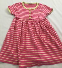 Hanna Andersson Size 110 Pink & Pale Green Opposite Stripe Play Dress