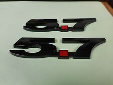 NEW 5.7 CHEVY CHEVROLET GM V8 FENDER EMBLEMS BLACK PAIR