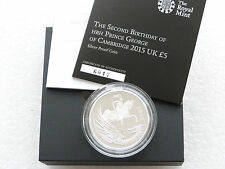 2015 Second Birthday Baby Prince George £5 Five Pound Silver Proof Coin Box Coa