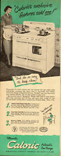 1949 vintage AD, CALORIC Ultramatic GAS RANGE, kitchen appliance  082913