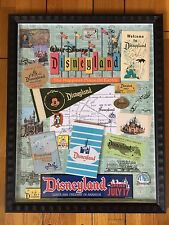 DISNEYLAND DIAMOND 60TH ANNIVERSARY MEMORABILIA FRAMED LE PIN SET ARTIST SIGNED