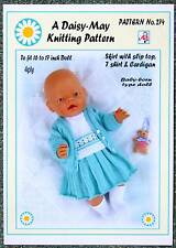 DOLLS KNITTING PATTERN no. 274 for BABYBORN.by Daisy-May.